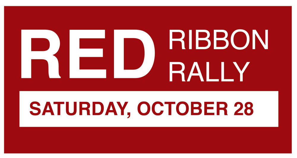Red Ribbon Rally on October 28